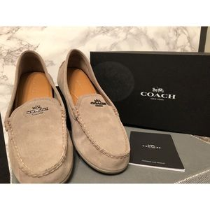 Coach 'Mary Lock up' suede loafers + FREE heels